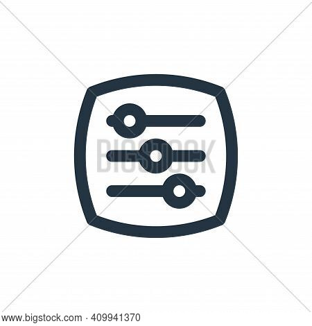adjust icon isolated on white background from basic ui collection. adjust icon thin line outline lin