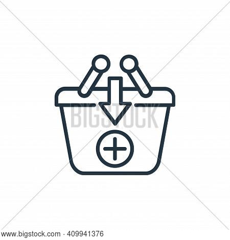 add to basket icon isolated on white background from shopping line icons collection. add to basket i