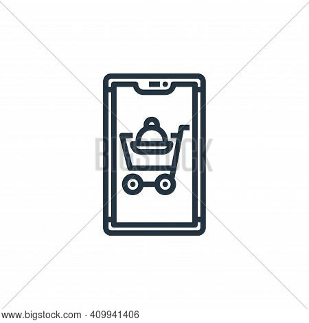 add cart icon isolated on white background from food delivery collection. add cart icon thin line ou