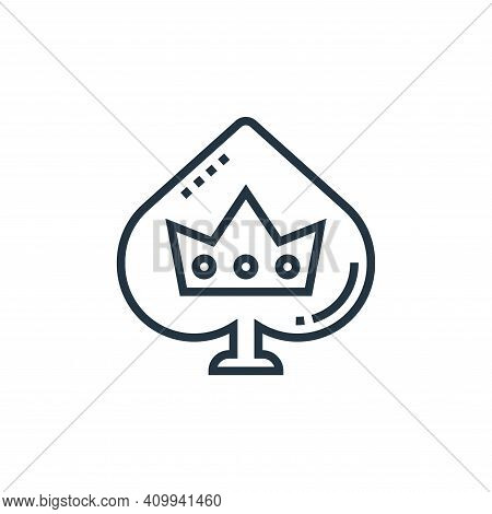 ace of spades icon isolated on white background from casino collection. ace of spades icon thin line