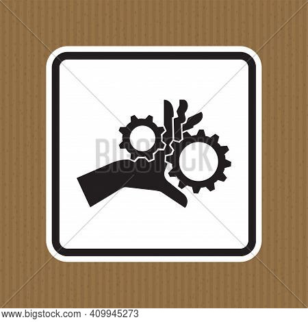 Hand Entanglement Rotating Gears Symbol Sign Isolate On White Background,vector Illustration Eps.10