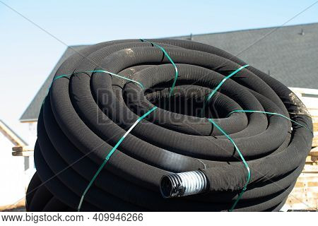 Sewer Pipe New Plastic Drain Pipework Empry