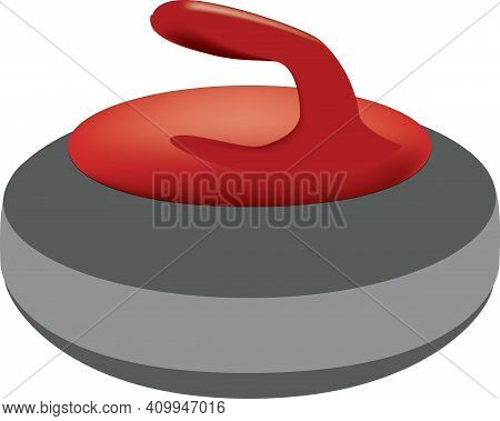 Sports Equipment For Curling - Curling Stone. Vector Illustration.