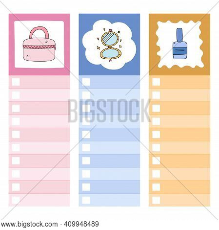 Cute Scrapbook Templates For Planner With Illustration
