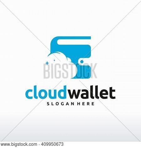 Cloud Wallet Logo, Wallet Shield Logo Template, Finance Logo Symbol