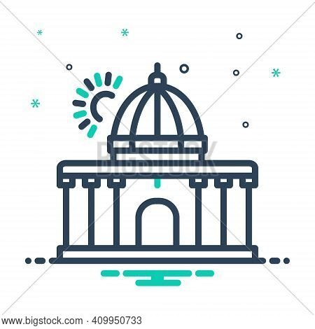 Mix Icon For Supreme Highest Constitution Architecture Government Authority