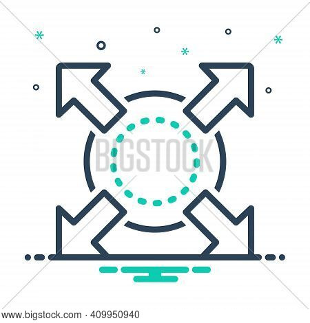 Mix Icon For Extend Expand Enlarge Compact Compress Distend Fullscreen Develop Widen Broaden Amplify