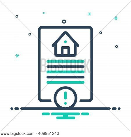 Mix Icon For Risk Hazard Peril Danger Riskiness Property Home Calm Legal Paper
