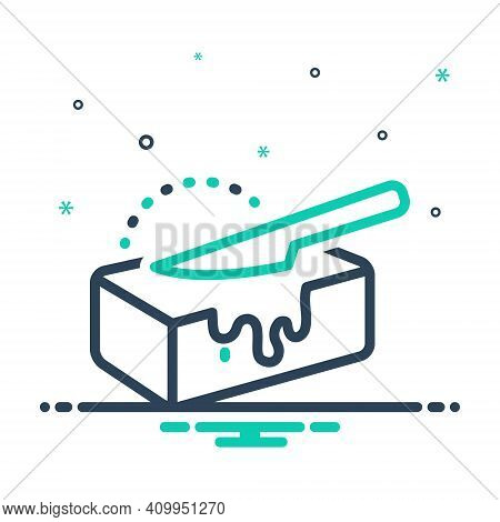 Mix Icon For Butter Spread Culinary Cooking Editable Milk Nutrition Calories Knife Cheese Margarine