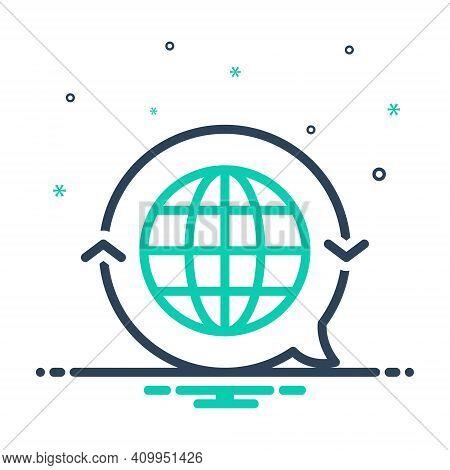 Mix Icon For Translate Globe International Render Retranslate Interpret Clarify Convert Language