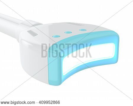 3d Render Of Uv Lamp To Teeth Bleaching. Teeth Whitening Concept.