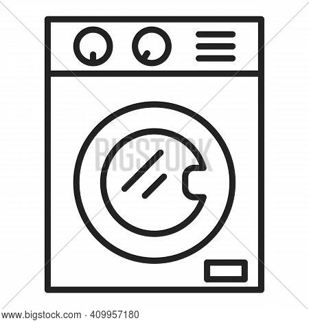 Washing Machine Icon Vector Isolated. Outlined Symbol