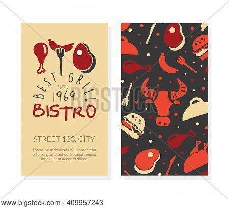 Best Bistro Grill Business Card Template, Hot Barbecue House, Restaurant Poster, Invitation, Flyer,