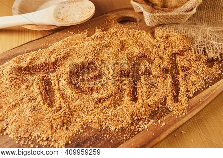 Teff, A Gluten Free Ancient Grain Alternative With The Name Spelled In It. Teff Has Become A Popular