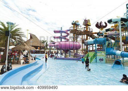 Pattaya,thailand - Sept 3 : Cartoon Network Amazone Water Park,new Recreation In Pattaya On Septembe