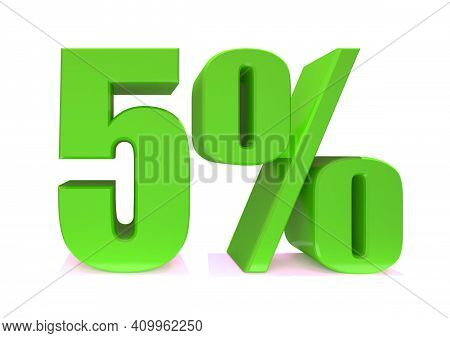 5 Percent Off 3d Sign On White Background, Special Offer 5% Discount Tag, Sale Up To 5 Percent Off,b