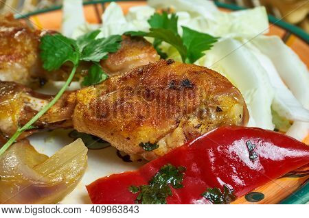 Famous Adobo Bbq Chicken, Goya Foods Close Up