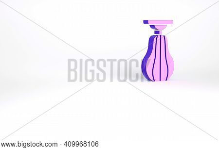 Purple Punching Bag Icon Isolated On White Background. Minimalism Concept. 3d Illustration 3d Render
