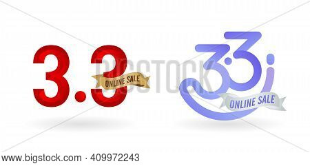 3.3 Sale, 3.3 Online Sale, Women Of Sale Gradient Red With Golden Ribbon And Blue With Silver Ribbon