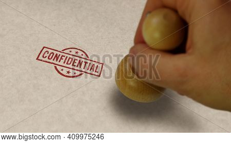 Confidential Stamp And Stamping