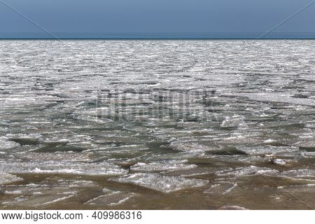 This Is Ice Sludge In Azov, Formed Due To Unusually Strong Frosts In This Area.