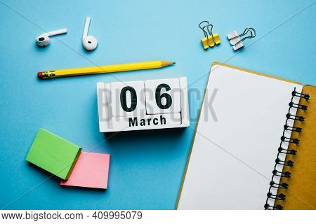 6 Sixth Day Of Spring Month Calendar March.