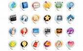 Social Media Bubble Icon. Useful As Icon, Illustration , Banners and Background For Social Media Theme and Web. poster