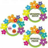 Set of spring sale advertising  isolated on white background poster