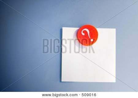 Blank Note And Magnet