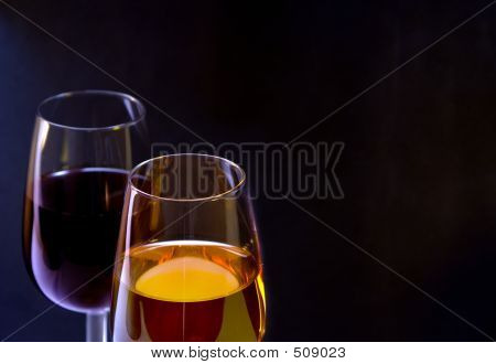 White And Red Wine Glass Isolated