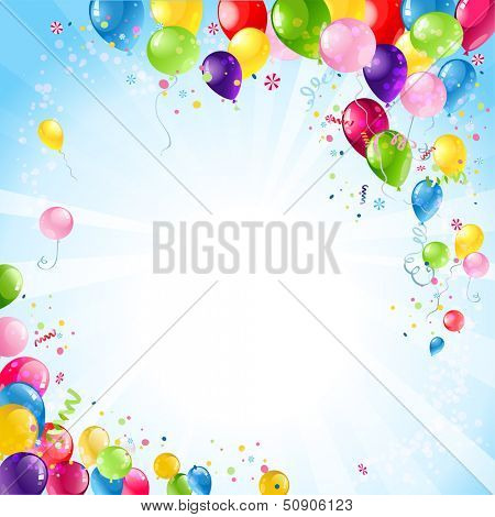 Happy birthday background with balloons