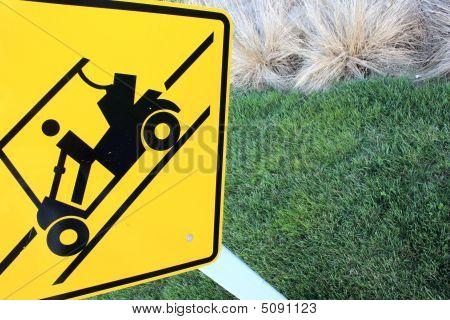Golf Cart Crossing Sign