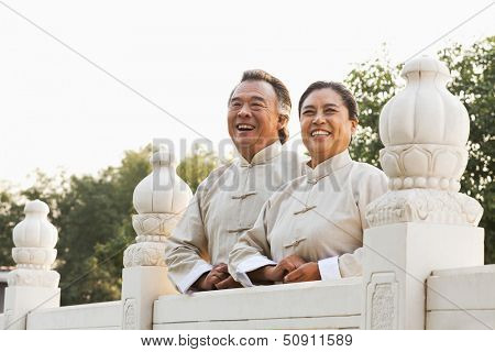 Two senior Taijiquan practitioners in Beijing