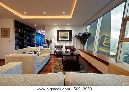 Innenarchitektur: Big Modern-Living Room