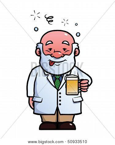 Scientist being drunk