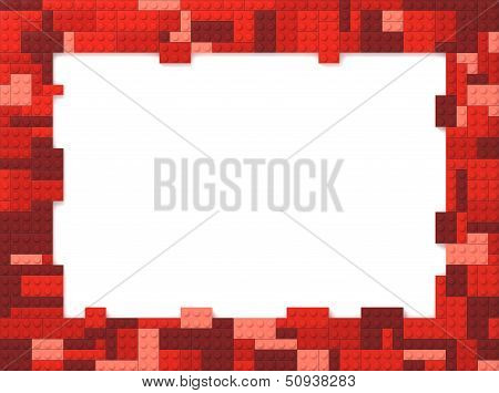 Toy Bricks Picture Frame - Red