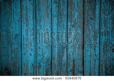 Painted Wooden Fence Background