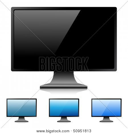 Modern digital LED monitor. Illustration.