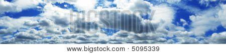 Panorama Of The Cloudy Sky