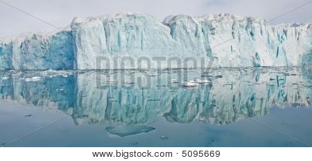 Reflection Of Glacier