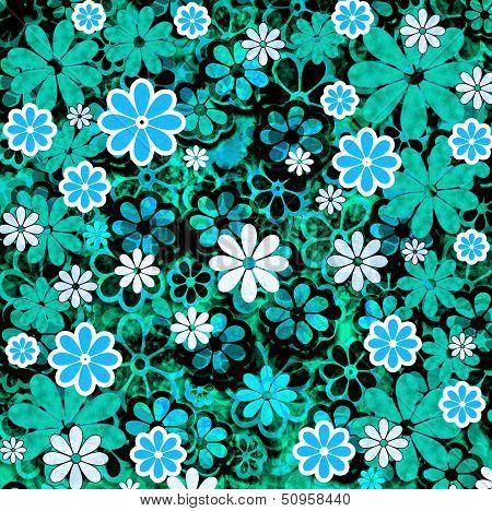 Nature Floral Pattern Aqua