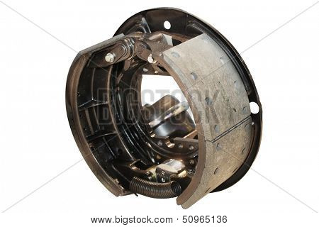 Brake gear isolated under the white background