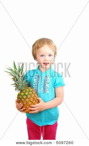 Girl And Fruit