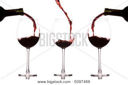 Pouring And Splashing Wine