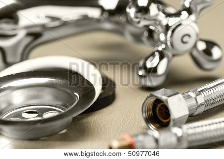 Variety of plumbing accessories