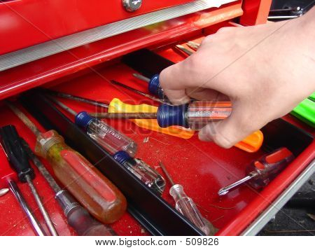 Hand And Screwdriver