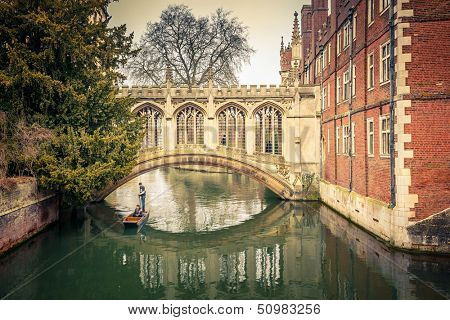 The Bridge of Sigh at Saint John's College, Cambridge poster