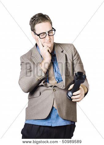 Businessman Holding Rook