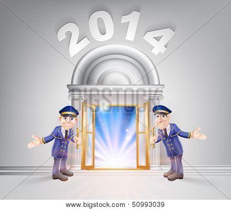 New Year Door 2014 And Doormen