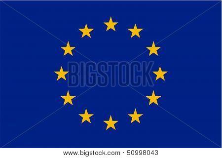 EU flag isolated illustration useful as web icon